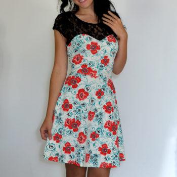 Lilleline kleit (5 värvi)-6271