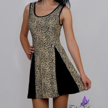 Leopardimustriline kleit-5375