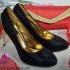 Mustad kingad kuldse kontsaga-7172