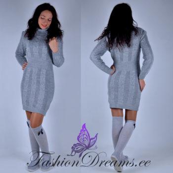 Helehall kudum-kleit, kampsun-kleit naistele