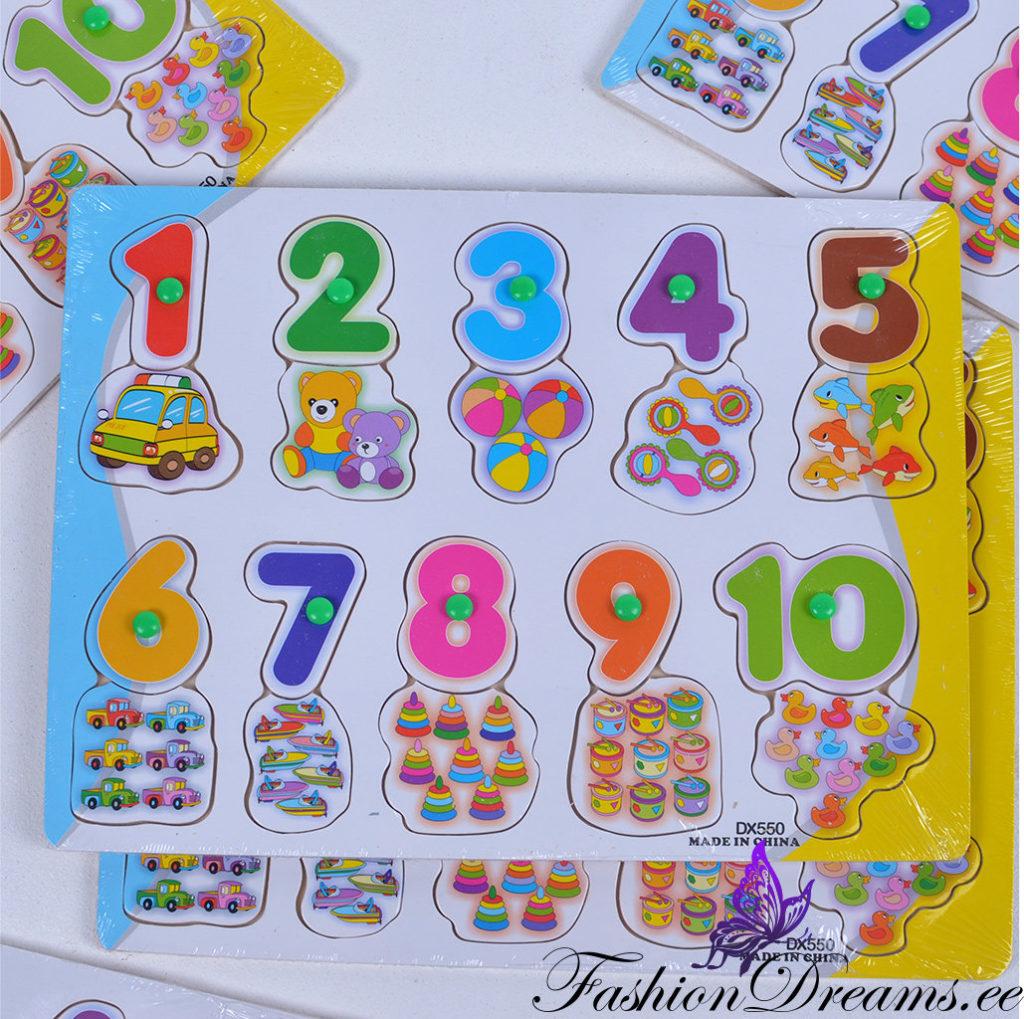 6784ced3b7b Puidust pusle numbrite õppimiseks | Fashiondreams