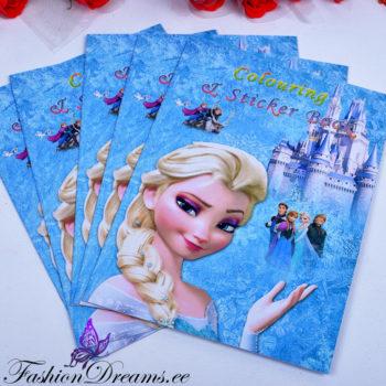Frozen kleepsudega värviraamat